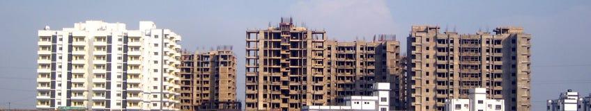 Real Estate-Bau Fahne-Indien Stockfotografie