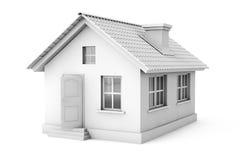 Real Estate begrepp. hus 3d Stock Illustrationer