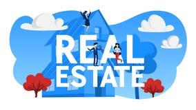 Real Estate begreppsillustration Bying och säljaegenskap vektor illustrationer