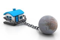 Real Estate belasten hypothekarisch Lizenzfreies Stockbild