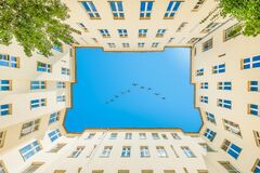 Free Real Estate Berlin - Backyard Sky View Royalty Free Stock Photo - 197442155