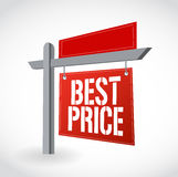Real estate best price sign illustration design Royalty Free Stock Photography