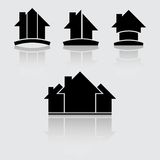 Real estate black Stock Photos
