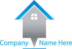 Real Estate bleu Logo House Images stock