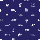 Real estate blue pattern eps10 Royalty Free Stock Photo