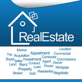 Real Estate Blue Square Stock Image