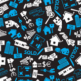 Real estate blue, white and black pattern eps10 Royalty Free Stock Images