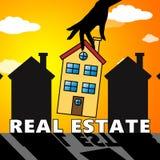 Real Estate bringen die Anzeige der Illustration des Eigentums-3d unter Lizenzfreie Stockfotos