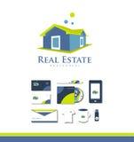 Real Estate bringen Logo unter Lizenzfreies Stockbild