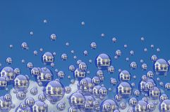 Real estate bubbles Stock Photo