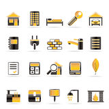 Real Estate and building icons Stock Photos