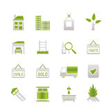 Real Estate and building icons Royalty Free Stock Photography