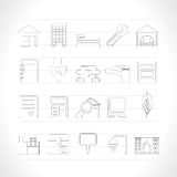 Real Estate and building icons Stock Photography