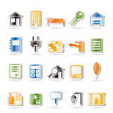 Real Estate and building icons Stock Photo