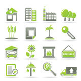 Real Estate and building icons Stock Images