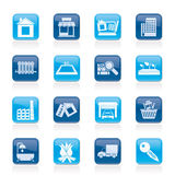 Real Estate and building icons Royalty Free Stock Photos