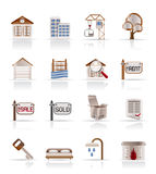 Real  Estate and building icons. Vector Icon Set Stock Photo