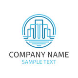 Real estate building logo. House Abstract Emblem for Real Estate Template for Company. Vector concept Logo design with commercial building. Business concept Royalty Free Stock Photo