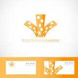Real estate building logo Royalty Free Stock Photos