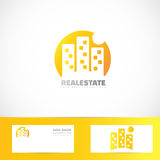 Real estate building moon logo Stock Photo