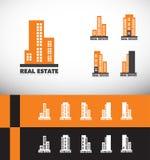 Real estate building skyscraper logo Stock Images