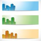Real estate and building website header vector illustration