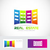 Real estate buildings logo Stock Photo