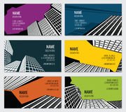 Real estate business card vector template Royalty Free Stock Photo