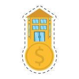 Real estate business finance money cut line. Illustration eps 10 Royalty Free Stock Image