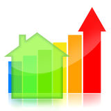 Real estate business graph Royalty Free Stock Photos