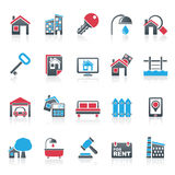 Real Estate business Icons Stock Photos