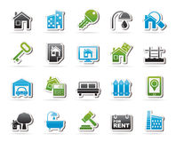 Real Estate business Icons Stock Images