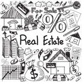 Real estate business industry and investment handwriting doodle Royalty Free Stock Photos