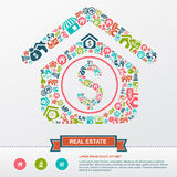Real estate business industry and investment infographic Royalty Free Stock Photography