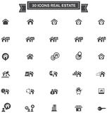 30 Real estate business industry and investment sign and symbol. Icon set , create by vector Stock Photos