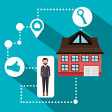 Real estate business and profits Stock Images