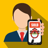 Real estate business and profits. Vector illustration graphic Stock Photo