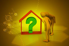 Real estate business with question mark Stock Photos