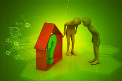 Real estate business with question mark Stock Image