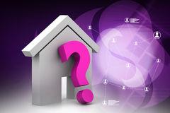 Real estate business with question mark Royalty Free Stock Photography