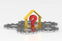 Real estate business with question mark Stock Photography