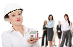 Real estate business team Stock Photography