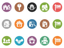 Real estate button icons Royalty Free Stock Photo