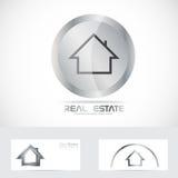 Real estate button logo Stock Photos