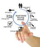 Real Estate Buying Process. Presenting diagram of Real Estate Buying Process Royalty Free Stock Images