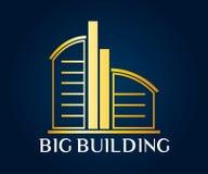 Real Estate, byggnad, konstruktion och arkitektur Logo Vector Design Arkivbilder