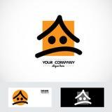 Real estate cartoon logo Stock Images
