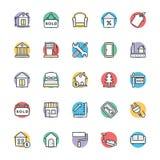 Real Estate Chłodno Wektorowe ikony 3 Zdjęcia Stock