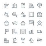 Real Estate Chłodno Wektorowe ikony 2 Obraz Royalty Free