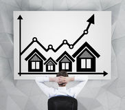 Real estate chart Royalty Free Stock Photo